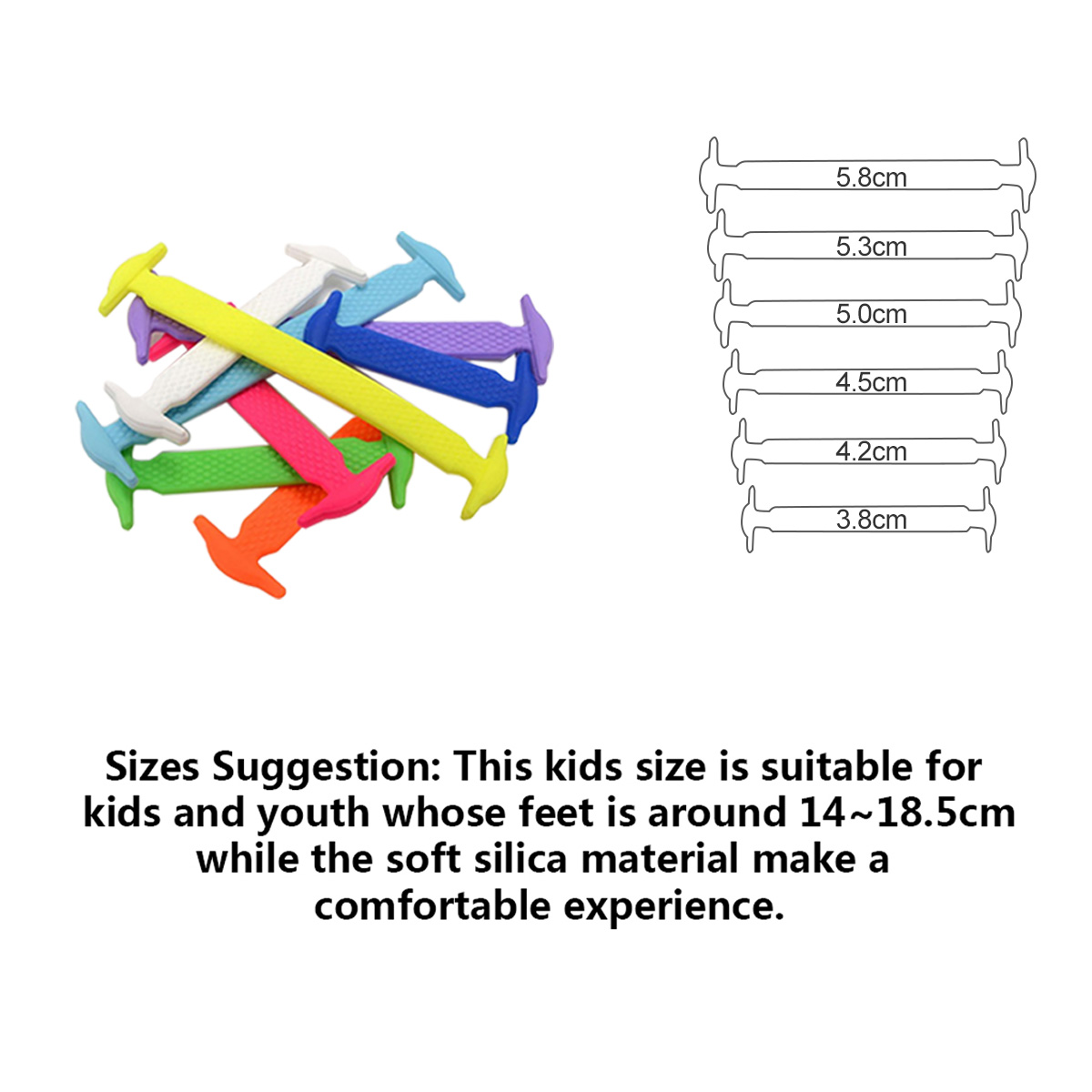 Coolnice no tie shoelaces for kids and adults best in sports coolnice no tie shoelaces for kids and adults best in sports fan shoe laces waterproof silicon flat elastic athletic running shoe laces with multicolor ccuart Choice Image